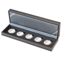 Coin case NERA S for 5 pieces encapsulated 10€ collector coins Germany with polymer ring, incl. coin capsules – Bild 1