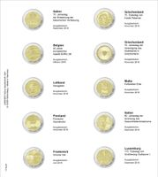 Printed page for 2 Euro commemorative coin: Italy 2018 up to Luxembourg 2018
