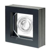 Presentation frame for 10 Euro collector coin with polymer ring