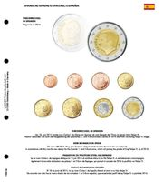 Illustrated page karat for EURO coin sets : New King in Spain