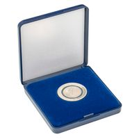 Coin Case with blue velour insert for coins/coin capsules up to outer-Ø 30 mm – Bild 2