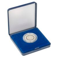 Coin Case with blue velour insert for coins/coin capsules up to outer-Ø 34 mm – Bild 2