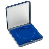 Coin Case with blue velour insert for coins/coin capsules up to outer-Ø 48 mm – Bild 1