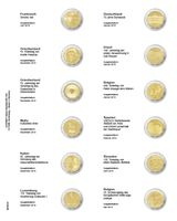 """Multi collect"" Illustrated page for 2 EURO-Commemorative coins: France 2018 - Belgium 2019"