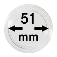 Coin capsules internal Ø 51 mm - pack of 10