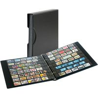 Set: Stamp Album SRS with 20 black stockpages and matching slipcase