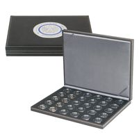 SPECIAL EDITION - Case NERA M BLACK SAMT for 30 German collector coins in coin capsules. Capsules are included  – Bild 1