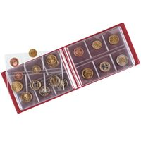 Pocket coin album COLOR for 48 coins, 150 x 100 x 18 mm, TORO (red) – Bild 4