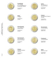Printed page for 2 Euro commemorative coin: Luxembourg 2019 up to Malta 2019