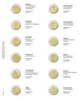 """Multi collect"" Illustrated page for 2 EURO-Commemorative coins: Estonie 2019 - Allemagne 2019"