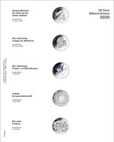 Multi collect Illustrated page for 20 Euro silver coins Germany 2020