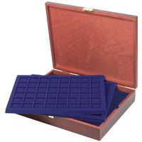 LINDNER Authentic wood case CARUS for 240 coins/coin capsules up to Ø 30 mm, z. B for 2 EURO coins - SPECIAL EDITION – Bild 1