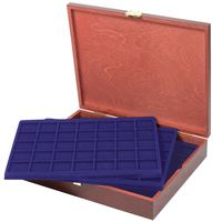 LINDNER Authentic wood case CARUS for 175 coins/coin capsules up to Ø 36 mm, e.g. for 10 or 20 EURO silver coins GERMANY - SPECIAL EDITION – Bild 1