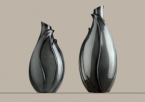 Design Vase  Fiora , 47 cm, anthrazit
