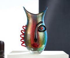 "Deko Vase ""Vista"", 32 cm, regenbogenfarben"