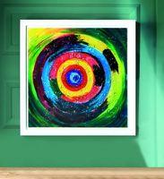 "Glasbild ""Sagoma"", 50 cm, mehrfarbig"