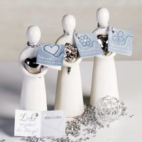 "Casablanca Figuren ""Wish"", 3-teiliges Set, 12 cm, weiß-silber"