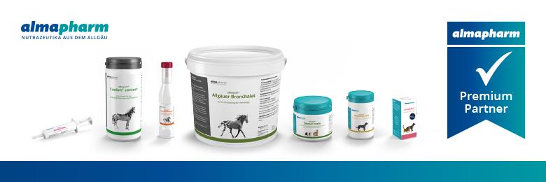 Almapharm Partnerbanner mit ausgwählten Almapharm Produkten