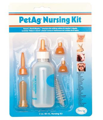 Nursing Kit Saugflasche zur Handaufzucht von Katzen-und Hundewelpen sowie Nagetieren