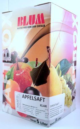 Neue Ernte 2018 ! 5 Liter Bag in Box, Apfelsaft klar aus Äpfeln der Ostalb, 100 % Fruchtgehalt – Bild 2