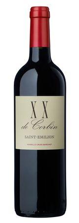 XX de CORBIN, Saint-Emilion A.C., 2 ème vin du Château Corbin, Bordeaux, (0,75 l) Jahrgang 2009 – Bild 1