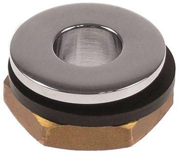 """Ablaufventil Aussen 28mm Größe 1/2"""" Höhe 16mm Messing verchromt"""