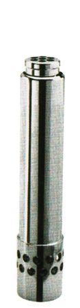 """Standrohr Aussen 46mm mit Filter Größe 2"""" Höhe 200mm Messing"""