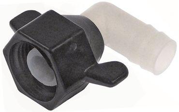 """SHURFLO H Schlauchanschluss 1/2"""" ø 13,5mm schwarz/weiß Nylon"""