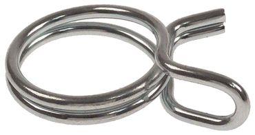 Drahtschelle Drahtstärke 2mm Stahl verzinkt VPE 50 Stück