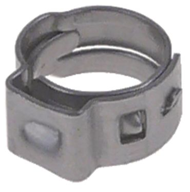 Einohrklemme Bandstärke 0,6mm Breite 5mm ø 6,0-7,0mm CNS W4 5mm