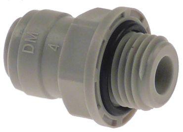 """DMfit Rohrsteckverbinder gerade 1/4"""" BSP Rohranschluss 1/4"""""""