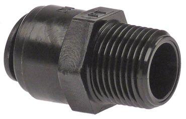 """DMfit Rohrsteckverbinder gerade 3/8"""" BSPT Rohranschluss ø10mm"""