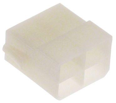 Gehäuse für Stecker 4-polig max. Temperatur 120°C Größe 6,3mm