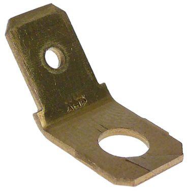Mastro Flachstecker mit Bohrung Größe 6,3mm Loch 4mmmm