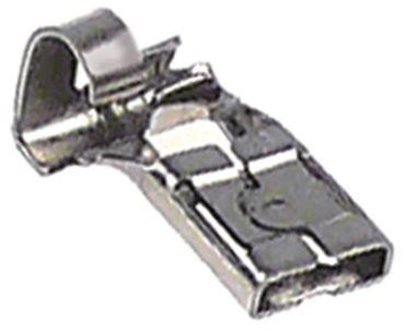 Flachsteckhülse gewinkelt gewinkelt Größe 4,8x0,8mm Edelstahl