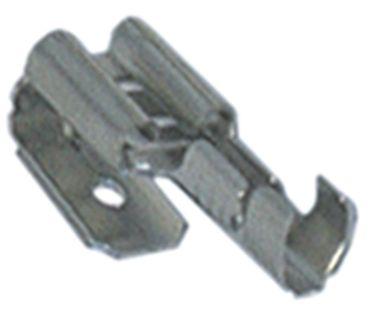 Flachsteckhülse mit Stecker CuZn gal Sn mit Stecker CuZn gal Sn