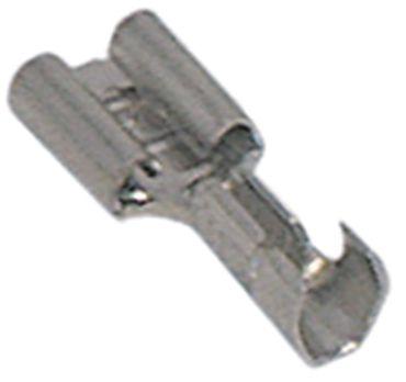 Flachsteckhülse Größe 6,3x0,8mm CuZn gal Sn VPE 100 Stück