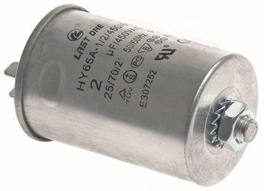 Betriebskondensator Anschluss Flachstecker 6,3mm Becherkondensator