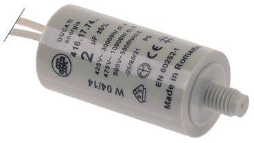 Friulinox Kondensator 416.17.74 Anschluss Kabel 250mm ø 25mm 2µF