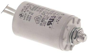 Betriebskondensator Befestigung M8 ø 30mm 50/60Hz 4µF Kunststoff