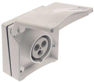 Steckdose 3-polig Unterputz P+N+PE 3-polig 230V 230V CEE 16A