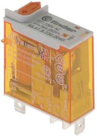 FINDER Relais 46.61.8.230.0040 Anschluss Flachstecker 4,8mm 1CO