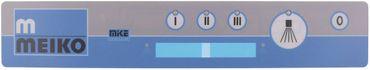 Meiko Tastaturfolie für Spülmaschine Gerät 5 Tasten Breite 60mm
