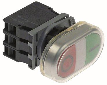 Drucktaster Schraubanschluss Einbau 22mm rot/grün 1NO/1NC/Leuchte