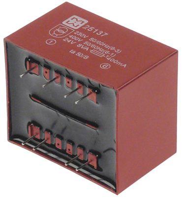 Transformator 25.137 Steckeranschluss 50/60Hz 8VA 230/400V 24V