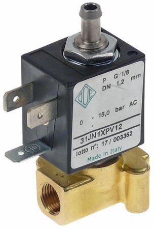 "ODE Magnetventil Anschluss 1/8"" 3-Wege Länge 30mm Messing 230V AC"