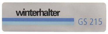 Winterhalter Schild für Spülmaschine GS215 für Spülmaschine