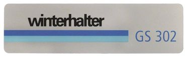 Winterhalter Schild für Spülmaschine GS310, GS302, GS315