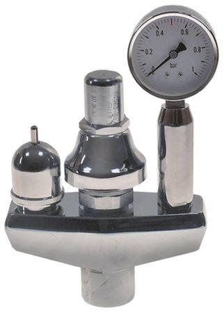 """Bertos Sicherheitsarmatur 0,5bar mit Manometer 3/4"""" Höhe 235mm"""