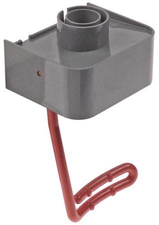 Auslaufhahn für Getränkespender Breite 90mm rot Höhe 131mm